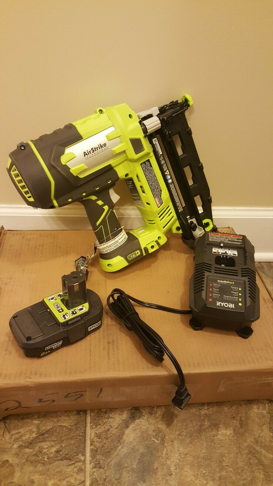 Nailer Kit 16-Gauge 2-1 2 in Straight Finish with 1.3 Ah Battery and Charger
