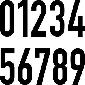 10-Autocollant-30cm-Noir-din-Tatouage-Chiffre-Nombre-Praxis-Maison-Porte-Chambre