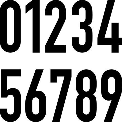 10 Aufkleber 30cm schwarz DIN Tattoo Ziffer Zahl Praxis Haus Tür Zimmer Nummer