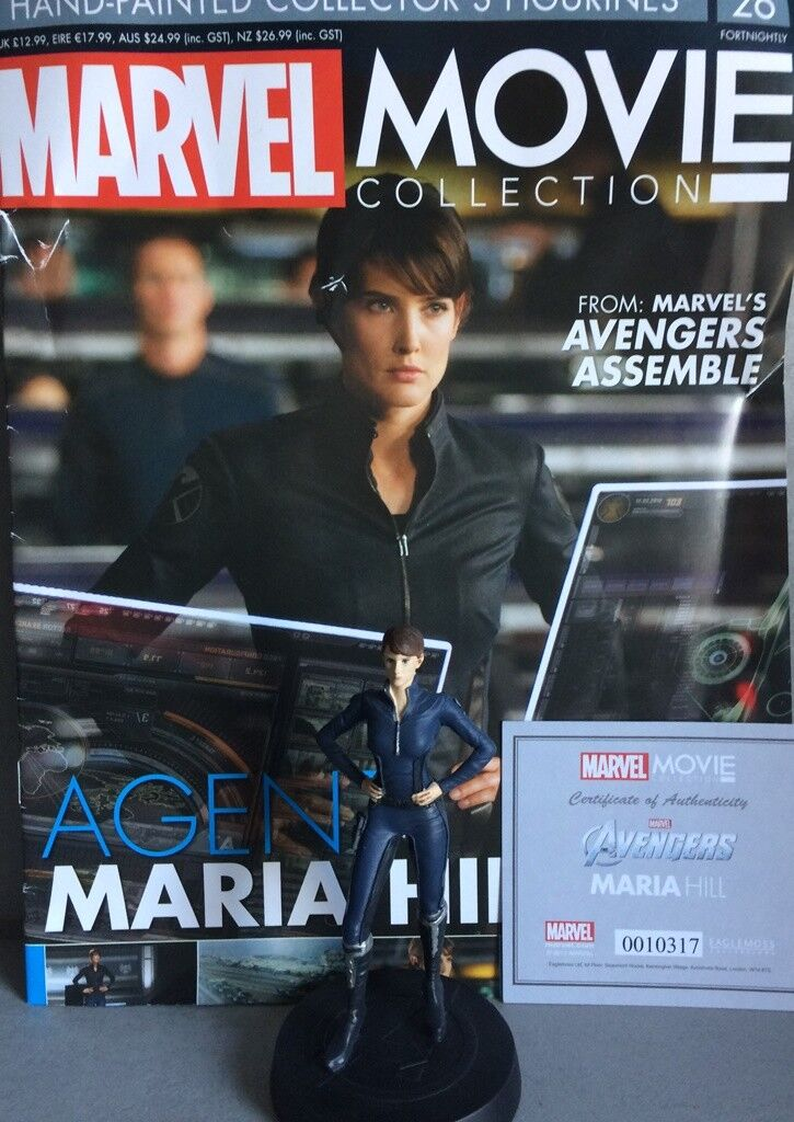 MARVEL MOVIE COLLECTION Agent Maria Hill FIGURINE EAGLEMOSS engl. NEU OVP