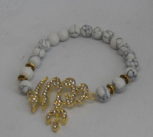 8mm White Turquoises Natural Stone Muslim Allah Charm Bracelets