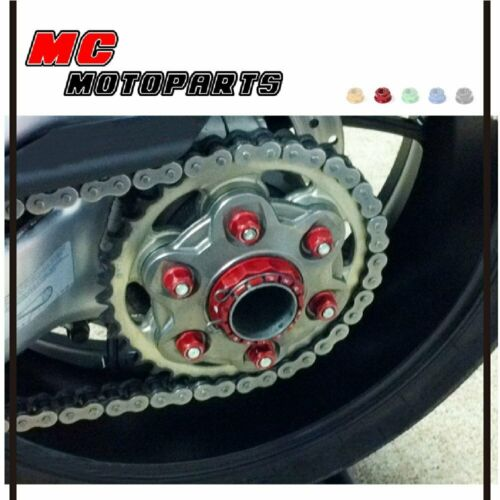 Racing Billet CNC Rear Sprocket Nuts 6pcs For Suzuki GSXR 750 SRAD 96-99
