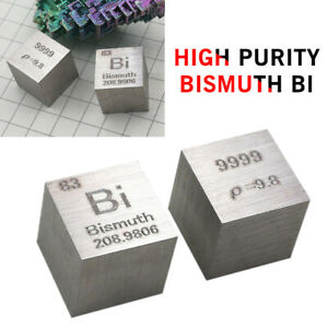 Details About 99 99 High Purity Bismuth Bi 10mm Cube Carved Element Periodic Table