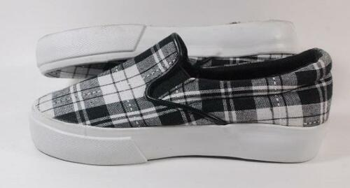 NEW Girls Youth/'s SODA SAYLOR Black Flats Slip On Loafers Shoes sz 12