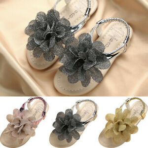 Toddler-Kids-Baby-Girls-Summer-Shoes-Princess-Casual-Shoes-Flower-Sandals-AU
