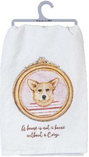 Corgi Dog Cotton Tea Dish Kitchen Towel  NWT Primitives by Kathy Made in India