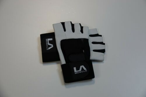 LA Muscle Weight Lifting Leather Fitness Gloves RRP £20 each Pack of 2 Pairs