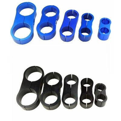 Water Pipe and Gas Line Black 4pcs AN4 Hose Separator Clamp Aluminum Fuel line Mounting Divider Clamps Fitting Adapter Great for Fuel Hose Oil Line Brake Line