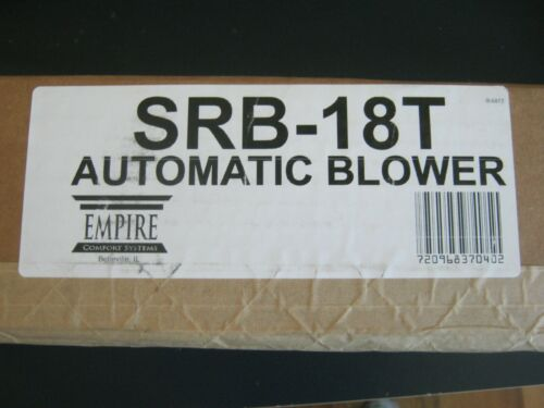 NEW Empire Comfort Systems ECS SRB-18T automatic blower for use with SR18 BF20