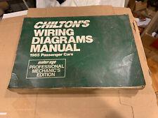 Chilton Wiring Diagrams Manual 1985 Passenger Cars Motor Age Pro Mechanic's  Ed | eBayeBay