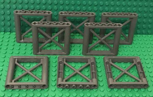 Lego X8 New Dark Bluish Gray 1x6x5 Girder Rectangular Support Part Lot