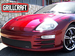 GrillCraft 2000-02 Mitsubishi Eclipse Black MX 5PC Bumper Mesh Grille Grill Set