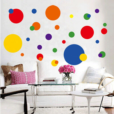 Removable Circle Polka Dots Wall Art Vinyl Sticker Decal Mural Living Room Decor