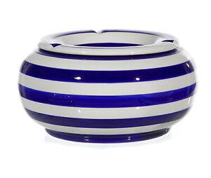 Sturmaschenbecher-Maritim-13-5-cm-Windaschenbecher-Keramik-Aschenbecher-Streifen