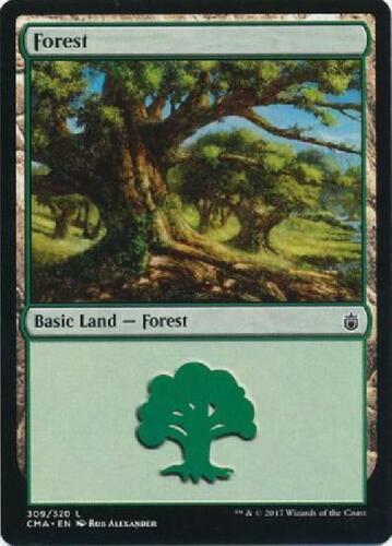 6x Forest 309//320 Near Mint MTG Commander Anthology CMA