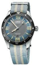 NEW ORIS HERITAGE DIVERS SIXTY-FIVE BABY BLUE NAT0 STRAP BLUE DIAL 733 7707 4065