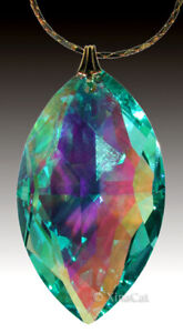 Swarovski-Green-AB-Crystal-8745-38mm-Cats-Eye-Marquis-Prism-Pendant-1-3-8-inch