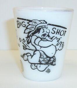 Vintage-Novelty-Milk-Glass-Big-Shot-Little-Shot-St-Louis-MO-Souvenir