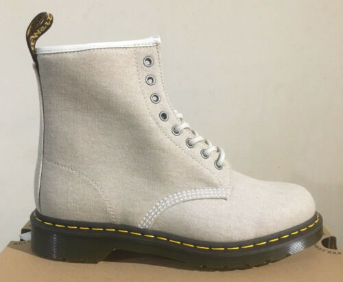 Martens Canvas 1460 Size Uk Dr Bone 12 Washed Boots qnSnId