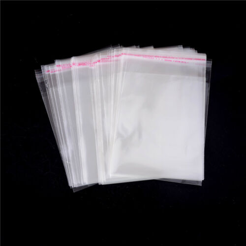 100Pcs//Bag OPP Clear Seal Self Adhesive Plastic Jewelry Home Packing Bags IU