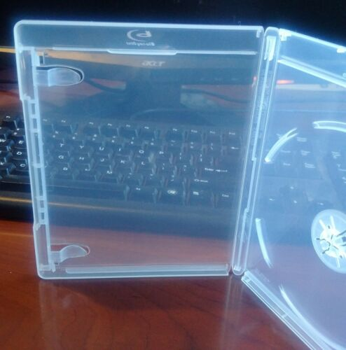 100Pk CLEAR 12.5 mm VIVA ELITE Blu-Ray Case Single 1 Disc Storage Holder PRIVT