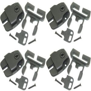 Spa Hot Tub Cover Clips Broken Latch Locks Push Button Release & Key - Pack Of 4 Diversifié Dans L'Emballage