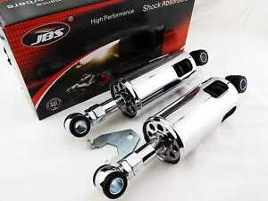 HARLEY-DAVIDSON-FXSTC-SOFTAIL-CUSTOM-89-99-JBS-CHROME-REAR-SHOCK-ABSORBERS