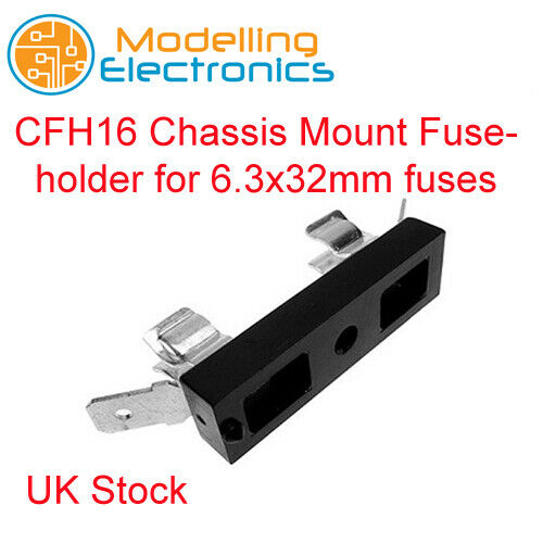 CFH16 Chassis Mount Fuseholder for 6.3x32mm fuses CamdenBoss