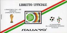 1990 Libretto Ufficiale Italia 90 6 Francobolli Germania Campione 18 Chiudilette