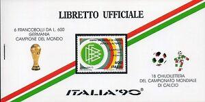 1990-Libretto-Ufficiale-Italia-90-6-Francobolli-Germania-Campione-18-Chiudilette