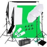 Professional Photo Studio Lighting Kit Non-woven Fabrics Background Screen Set