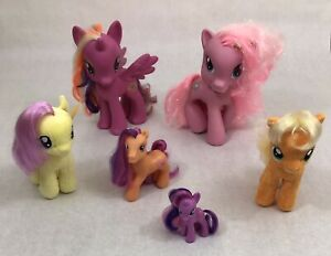 Lot 6 My Little Pony Pinkie Pie Fluttershy Scootaloo Twilight Sparkle Apple Jack