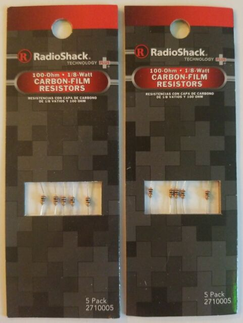 NIP 1//8W thru 1W RadioShack Resistors Various sizes to choose from