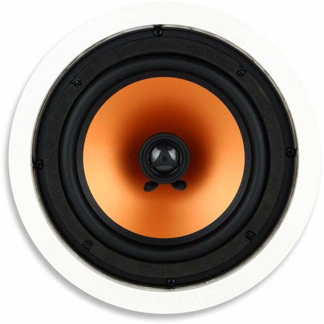 Round 8-Inch In-Ceiling Speaker with Swivel Mount Tweeter JBL SP8CII 2-Way Pair