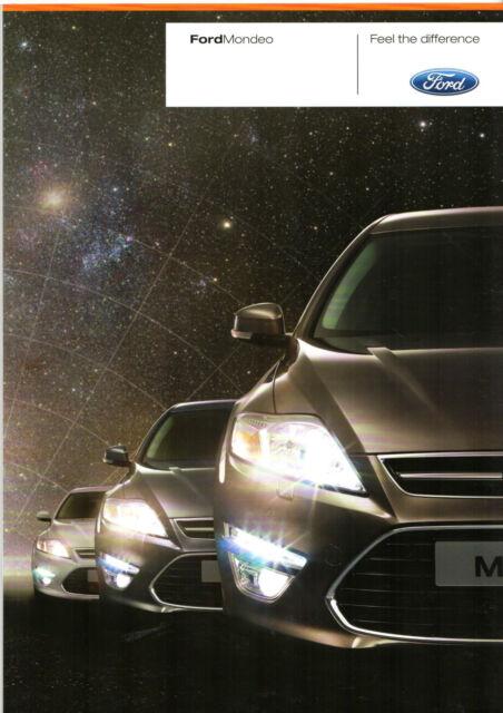 Ford Mondeo   Uk Market Sales Brochure Edge Zetec Titanium X Sport