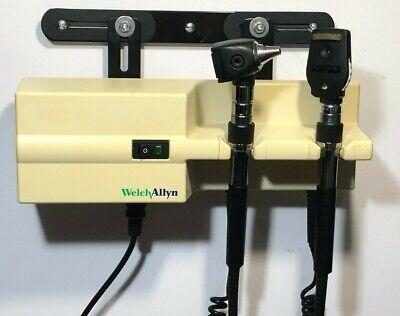Welch Allyn 767 Wall Transformer Otoscope Ophthalmoscope Heads Mount Bracket Ebay