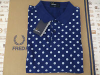 FRED PERRY Polo Shirt M5392 POLKA DOT Pique SLIM FIT Size XL Top BNWT RRP£65