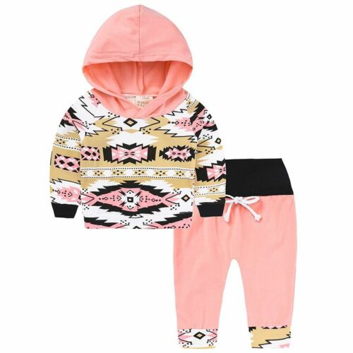 2Pcs Toddler Baby Boys Girls Dress Hooded Coat Pants Set Kids Clothes Outfits