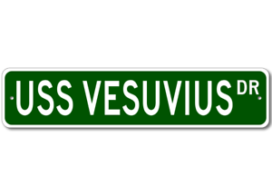 USS-VESUVIUS-AE-15-Ship-Navy-Sailor-Metal-Street-Sign-Aluminum