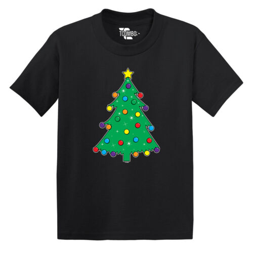 Holiday Toddler T-shirt Christmas Tree With Ornaments