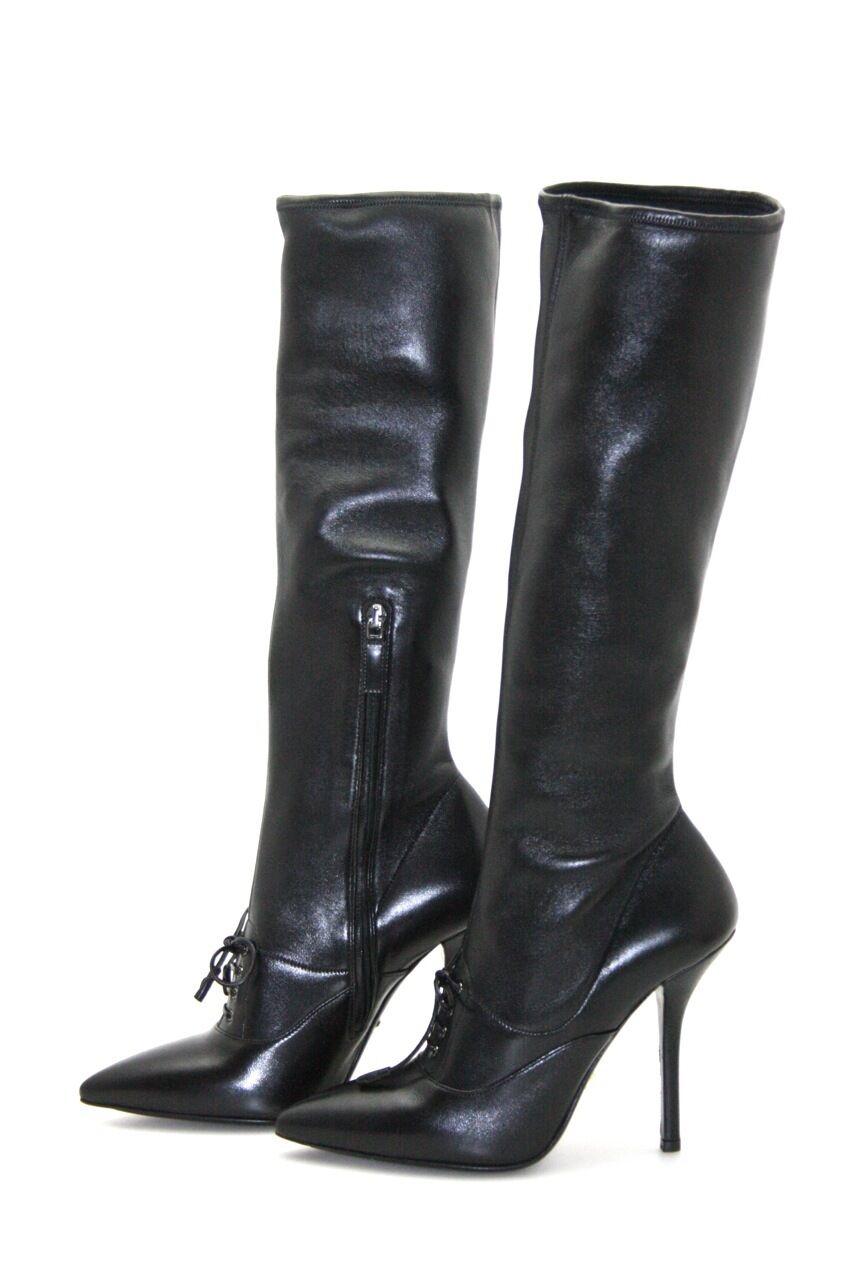 Prada de lujo botas zapatos 1w492d negro nuevo New 40 40,5