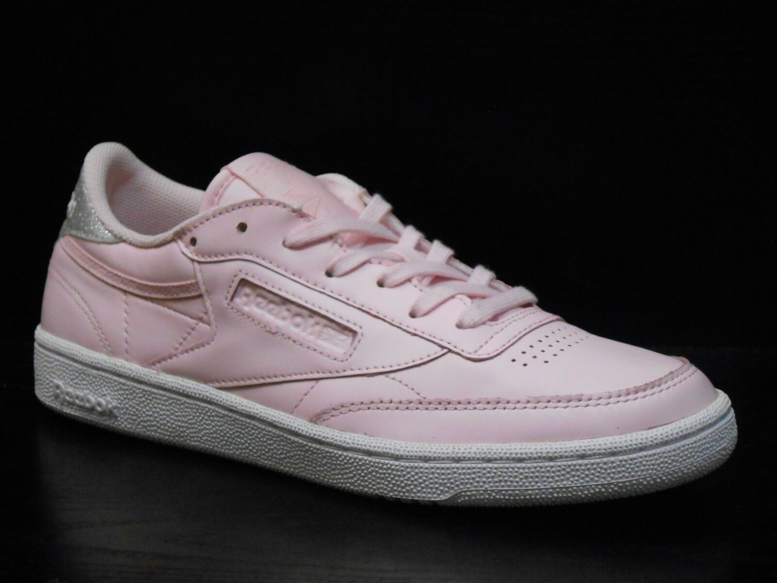 Zapatos promocionales para hombres y mujeres Reebok Club C 85 Diamond Womens Trainer Shoe Size 6.5 Pink White 65/-