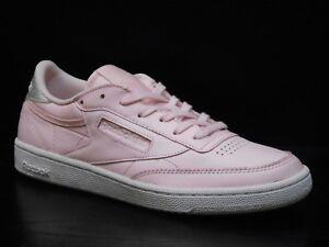Reebok-Club-C-85-Diamond-Womens-Trainer-Shoe-Size-6-5-Pink-White