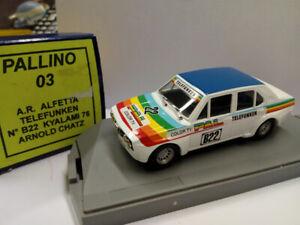 Pallino03 Alfa Romeo Alfetta Téléphone # b22 Kyalami 76 Arnold Chatz
