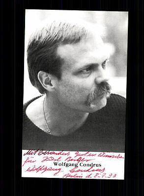 100% Wahr Wolfgang Condrus Autogrammkarte Original Signiert # Bc 70740