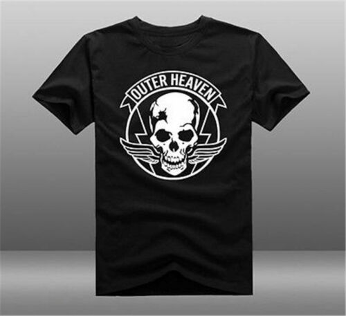 Metal Gear Solid V 5 MGS 5 Outer Heaven Logo 100/% coton à manches courtes T-shirts.