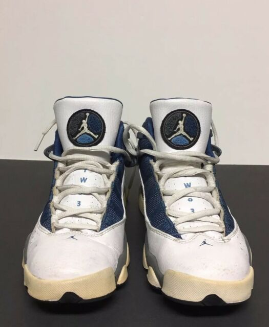 official photos 1966f 8748a ... best price air jordan 6 rings white royal blue flint grey gs size 6.5y  734f9