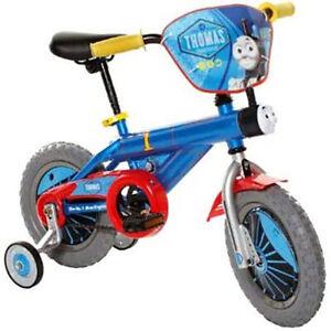 Thomas-amp-Friends-Kid-039-s-12-Inch-Beginner-Bike-w-Training-Wheels-Thomas-the-Train