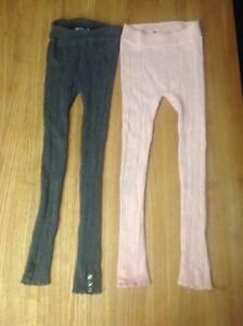 Détails sur H&m 1 rose & 1 gris côtelé Legging leggings taille EUR 116US 5 6YCA 5 6 A afficher le titre d'origine