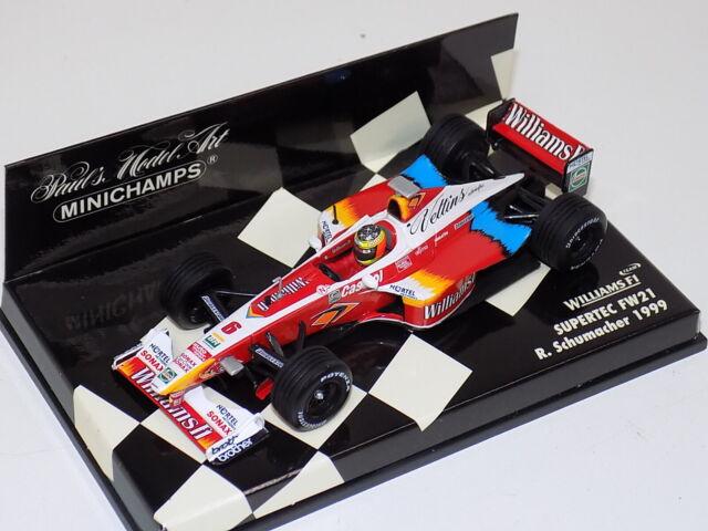 Williams Supertec FW21 Alex Zanardi #5 MINICHAMPS 1//43 1999 F1 Formel 1